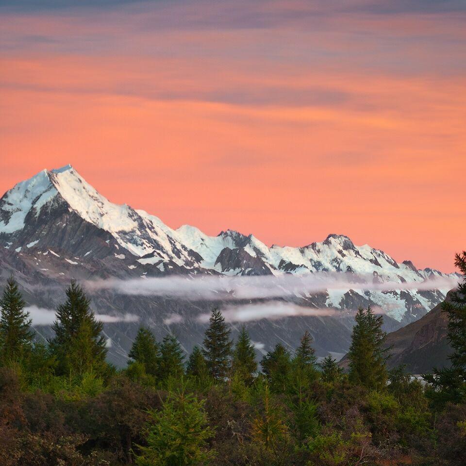 Aoraki/Mount Cook at sunrise
