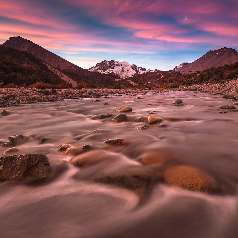 Cerro Hermoso at sunset.