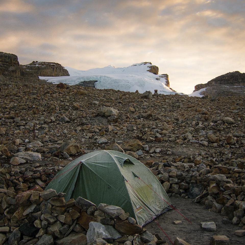 Frosted tent in Parque Nacional Natural El Cocuy.