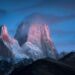Fitz Roy at sunset in winter