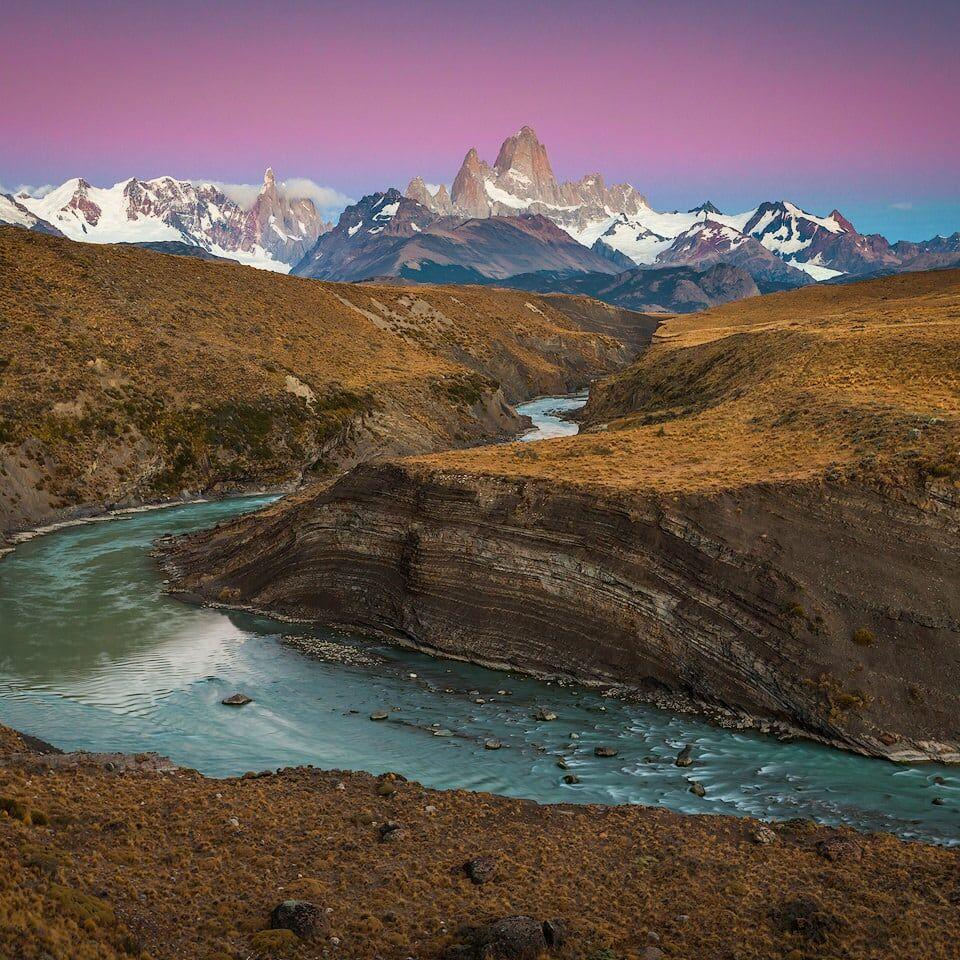 Cerro Torre and Fitz Roy at sunrise